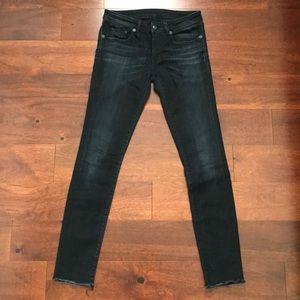 Denim - R13 Skinny Jean Faded Black Sz 27